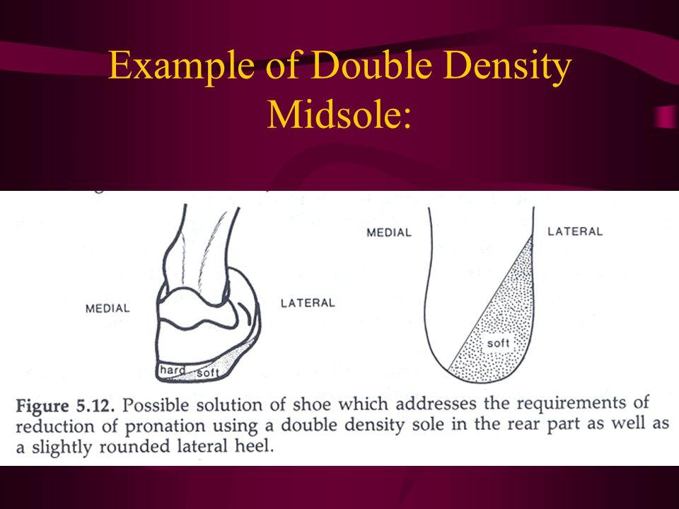 Example of Double Density Midsole: