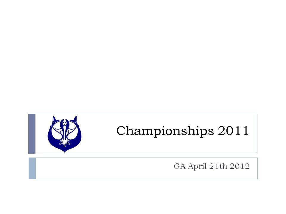 Championships 2011 GA April 21th 2012