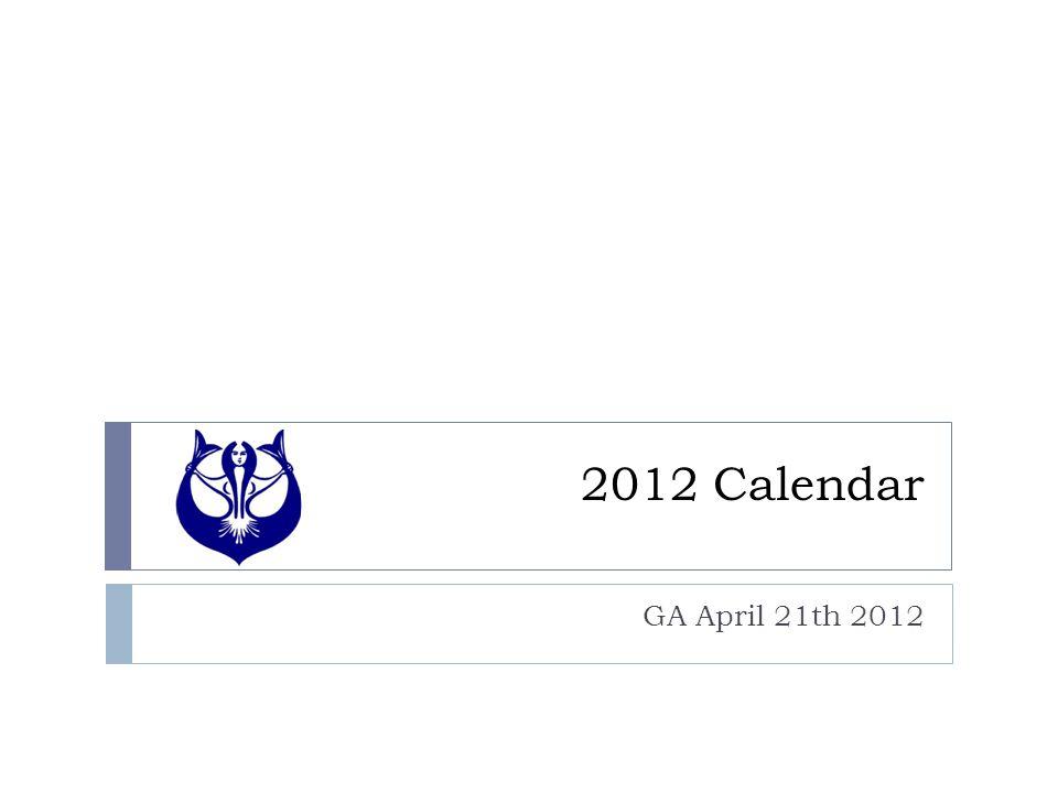 2012 Calendar GA April 21th 2012