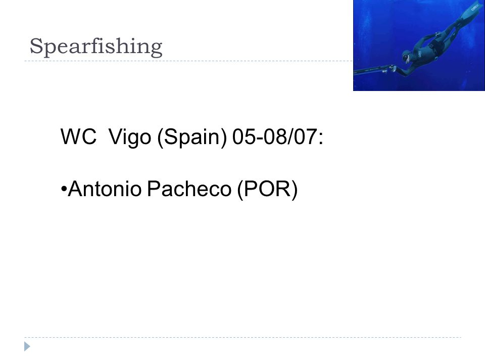 Spearfishing WC Vigo (Spain) 05-08/07: Antonio Pacheco (POR)