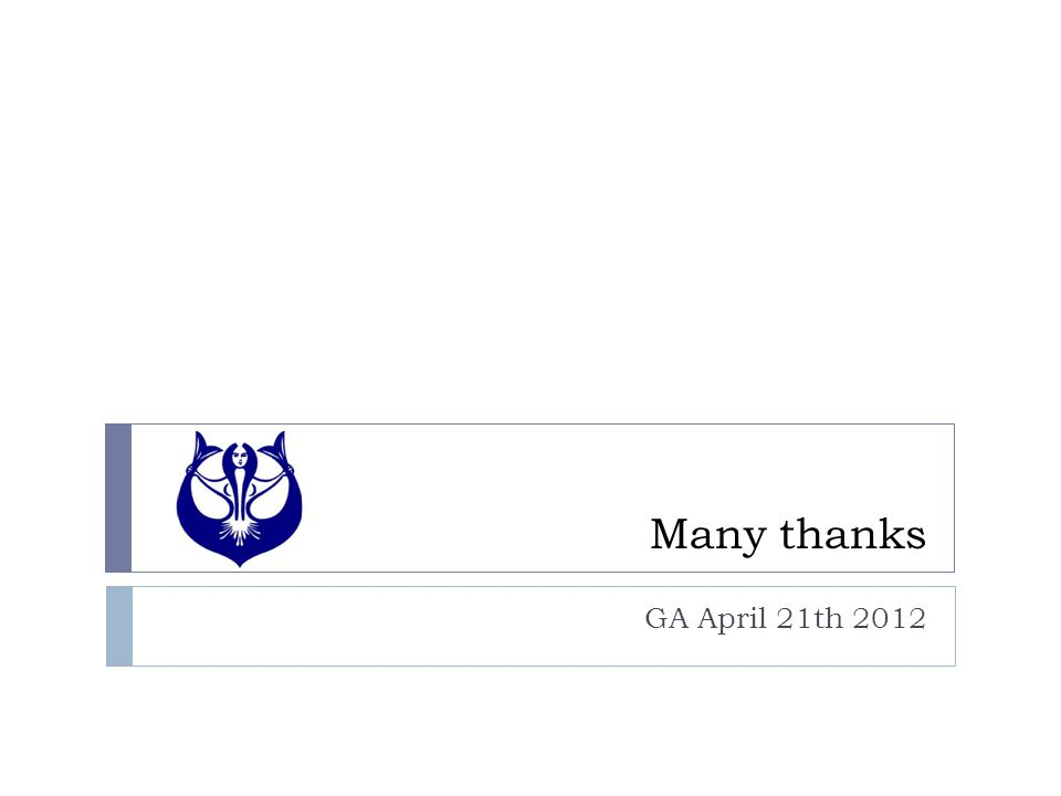 Many thanks GA April 21th 2012