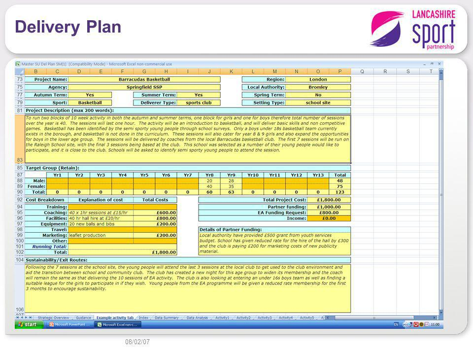 Delivery Plan 08/02/07