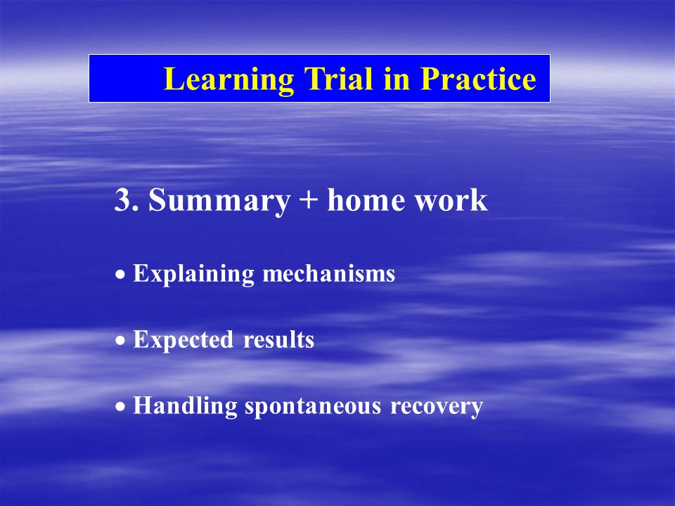 Learning Trial in Practice 3.