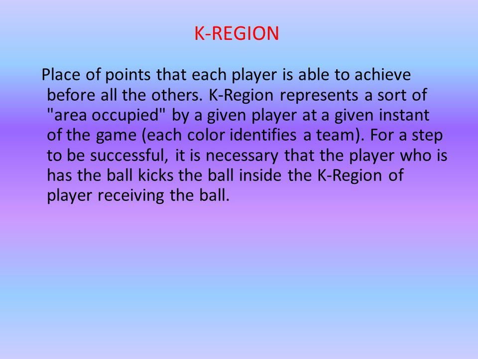 Place of points that each player is able to achieve before all the others.