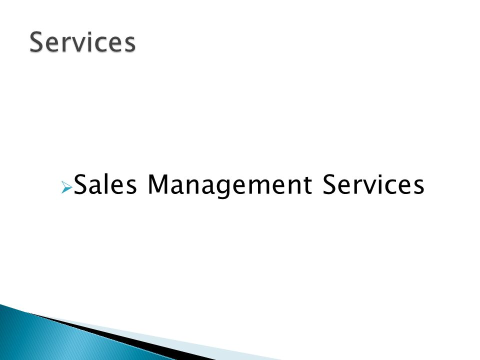 Sales Management Services