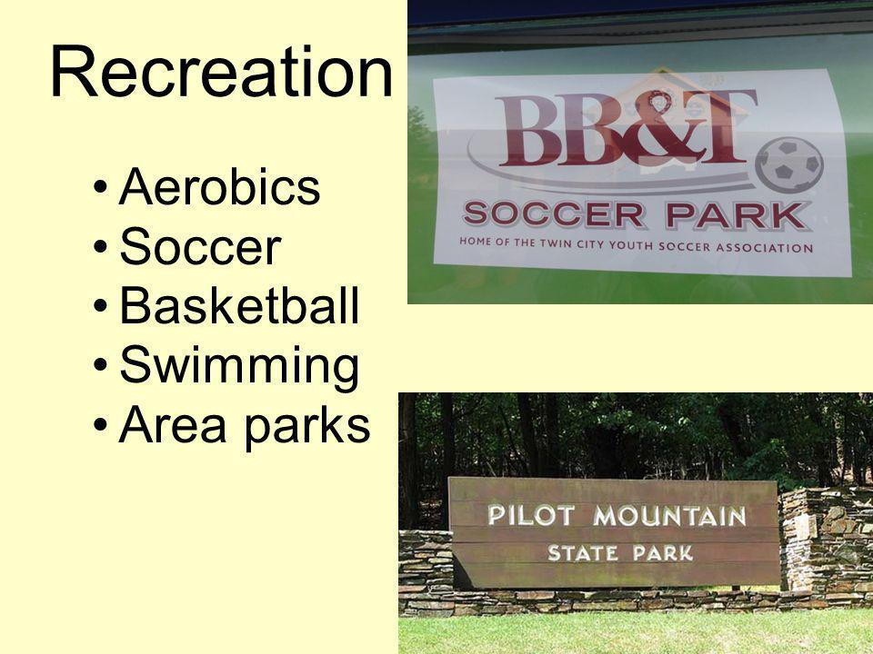 Recreation Aerobics Soccer Basketball Swimming Area parks