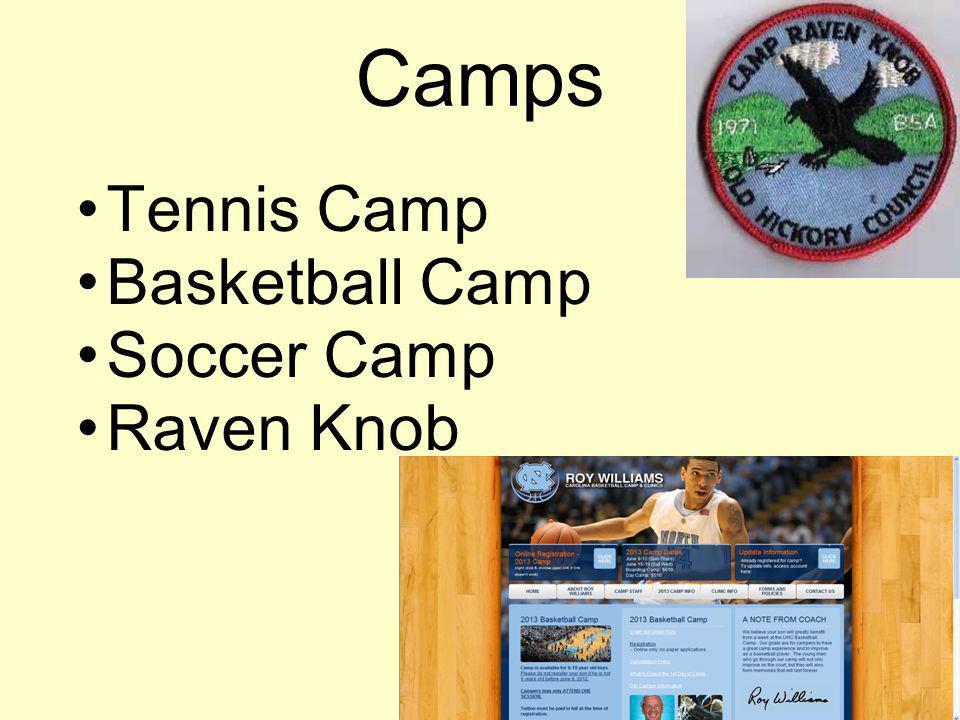 Camps Tennis Camp Basketball Camp Soccer Camp Raven Knob