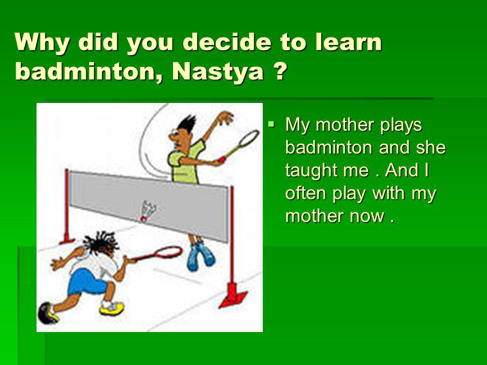 essay on my favourite game badminton in english