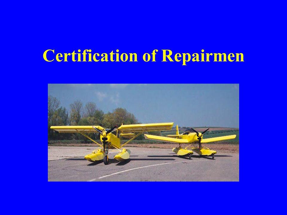 Certification of Repairmen