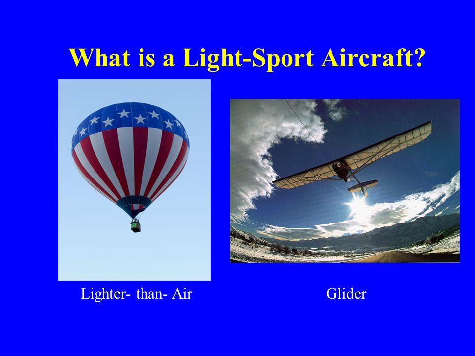 Lighter- than- Air What is a Light-Sport Aircraft? Glider