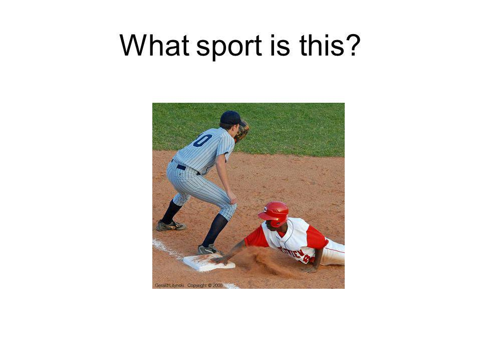 What sport is this