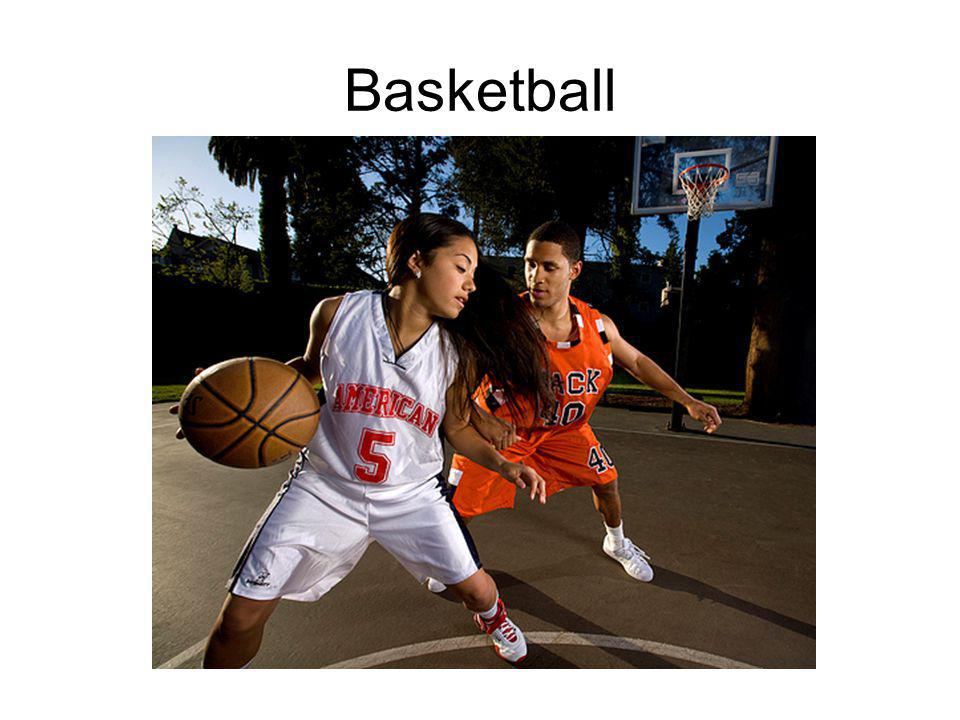 What are some verbs that are used in basketball?