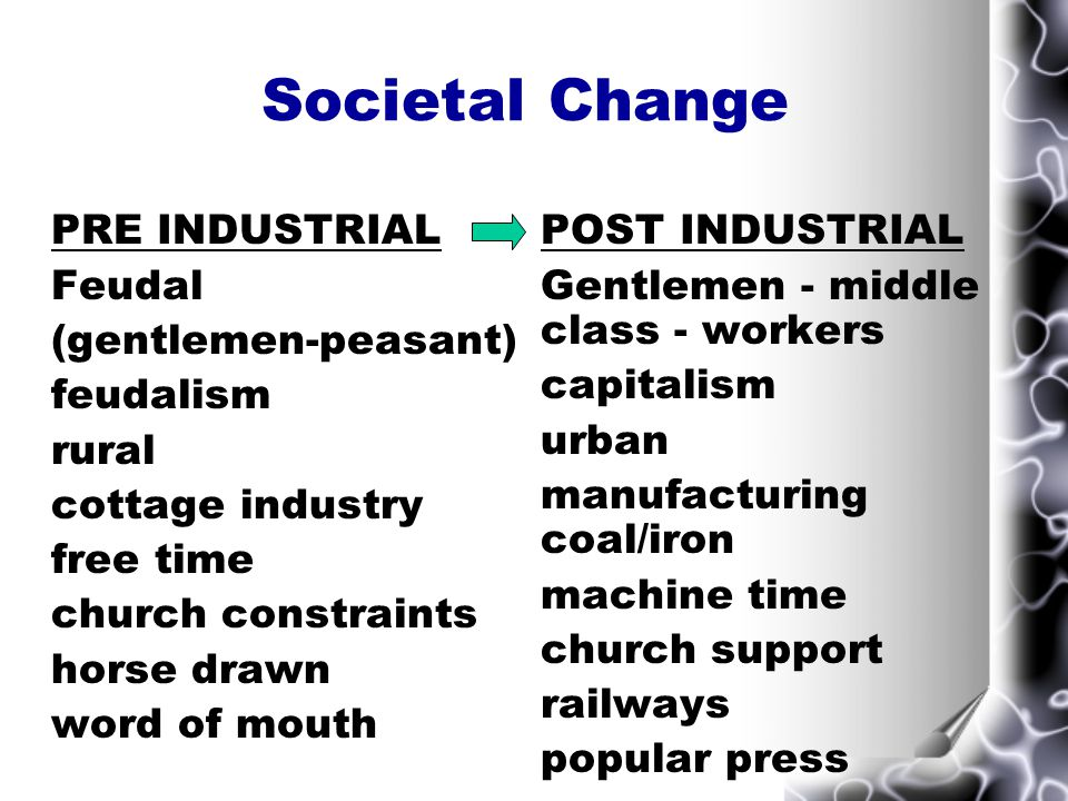 Societal change that led to RATIONAL RECREATION Societal determinants Urbanisation large population requiring recreative space & entertainment Industrialisation factory system and machine time Work Conditions gradual increase in free time, Saturday 1/2 day, 10 hour Act, Early Closing Movement.