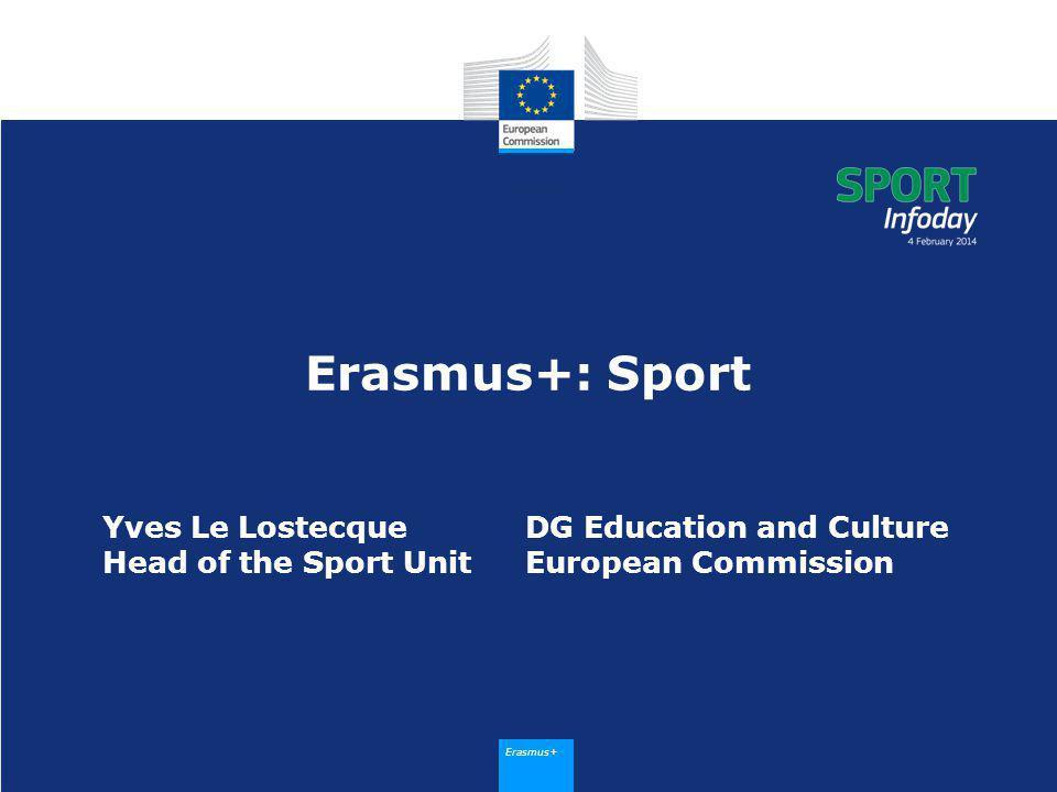 Erasmus+ New Erasmus + Programme - long awaited programme - integrated programme - ambitious programme - adopted on 11 December 2013 2