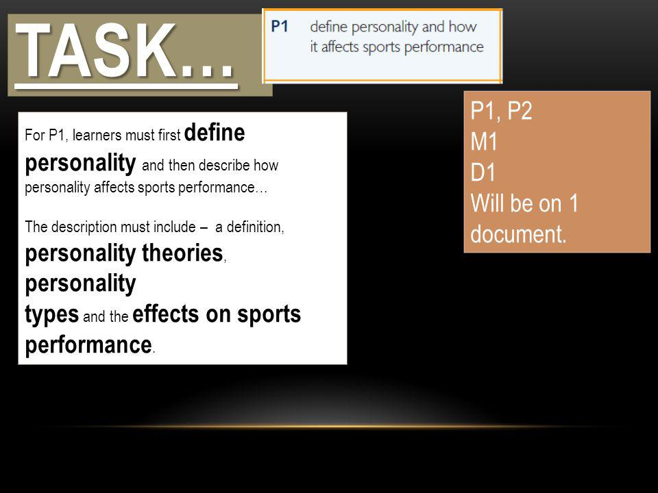 PERSONALITY AND SPORTS PERFORMANCE