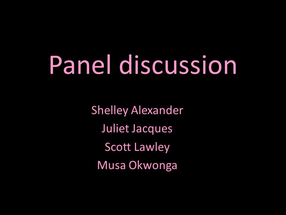 Panel discussion Shelley Alexander Juliet Jacques Scott Lawley Musa Okwonga