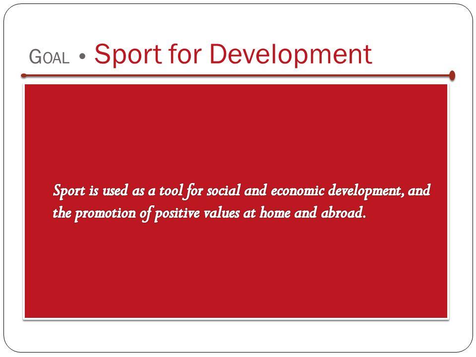 G OAL Sport for Development