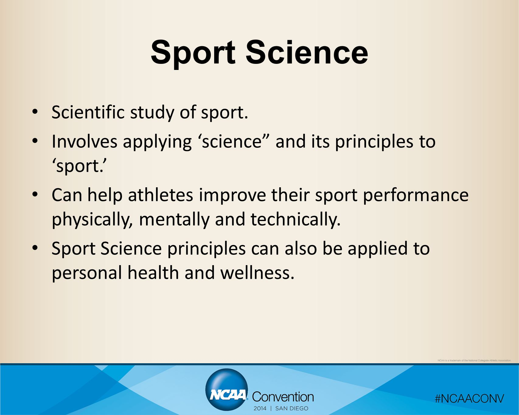 Applied Sport Science Student- Athlete PhysiologyPsychologyMotor Control Sports Medicine NutritionBiomechanics
