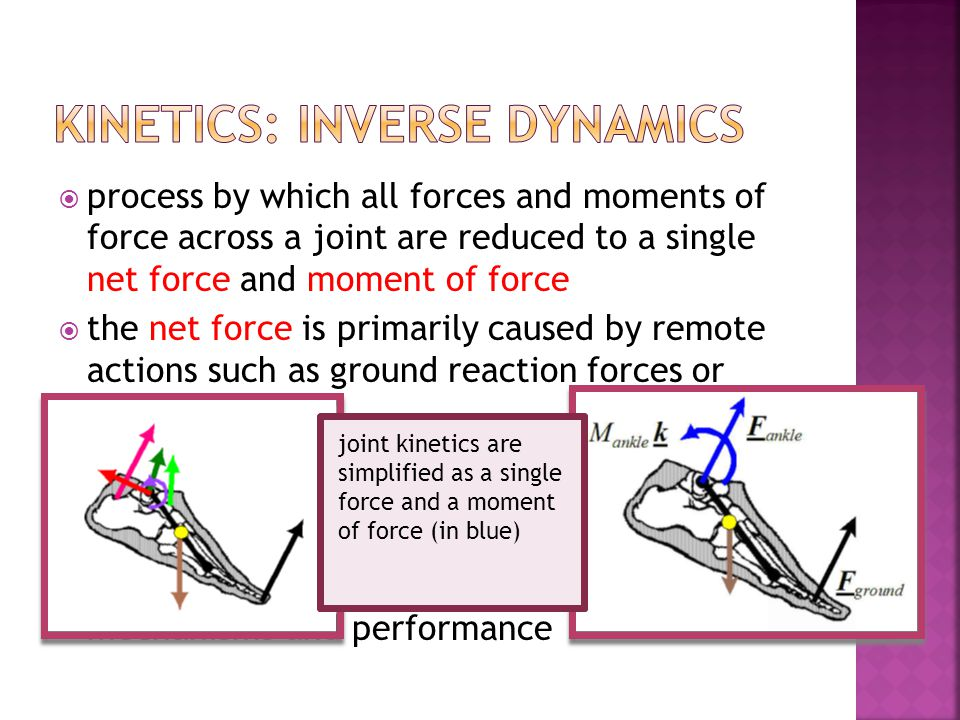 process by which all forces and moments of force across a joint are reduced to a single net force and moment of force the net force is primarily cause