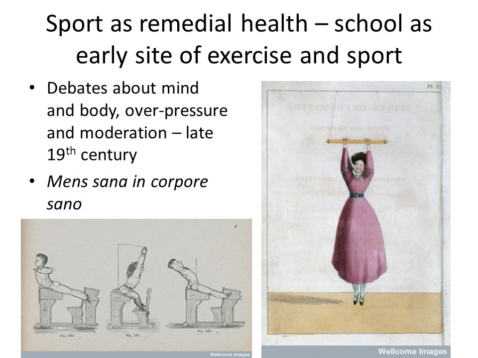 Conclusion Many aspects of sport and exercise cultures in 20thC deep-seated political connections Relationship with gender and particularly womens emancipation Sport and exercise promoted as key aspect of building blocks of health Harnessed media and commerce Limited role for state – despite fact largely about nations health Connects to ideas of modernity
