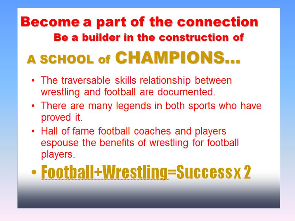 J EFFERSONVILLE H IGH S CHOOL Created a power point presentation to encourage football players to come out for wrestling