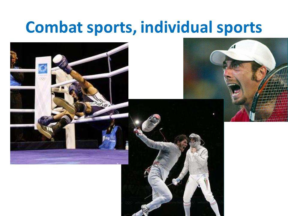Combat sports, individual sports