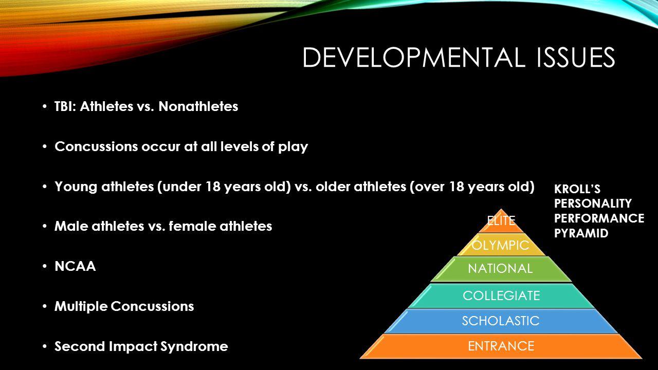 DEVELOPMENTAL ISSUES TBI: Athletes vs.