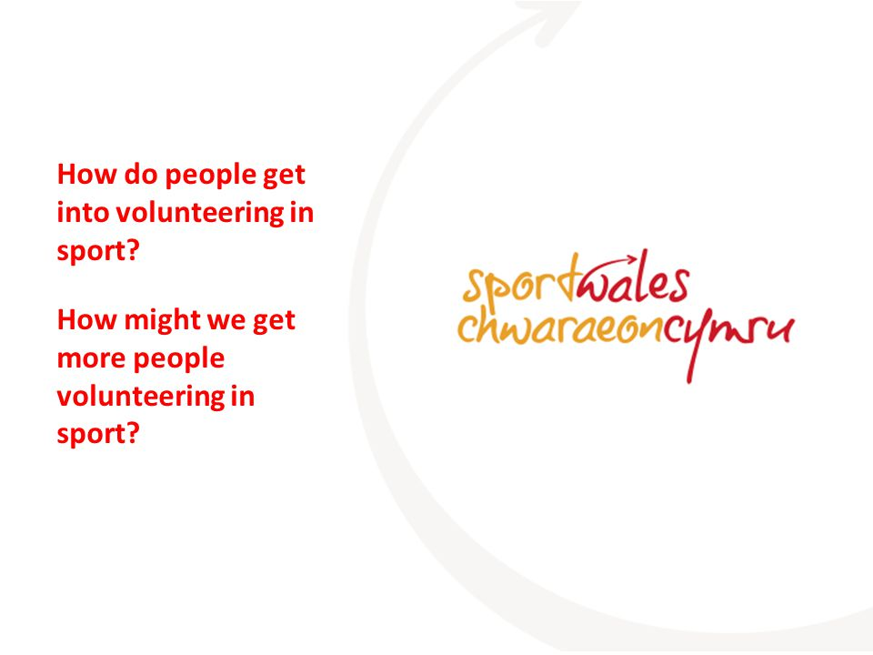 How do people get into volunteering in sport How might we get more people volunteering in sport