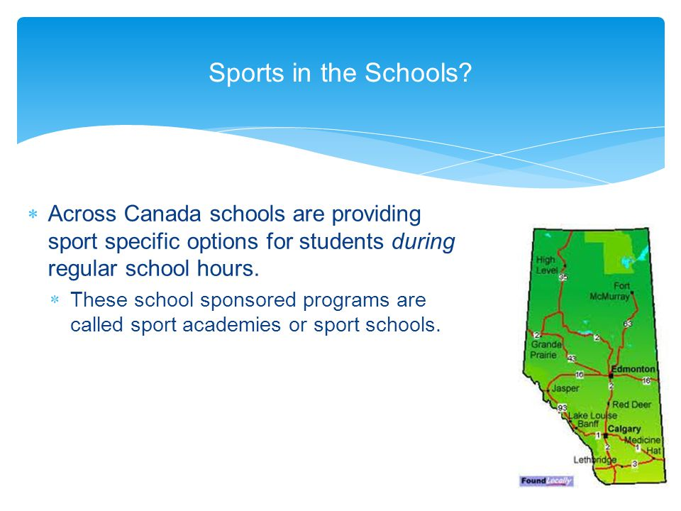Sports in the Schools.
