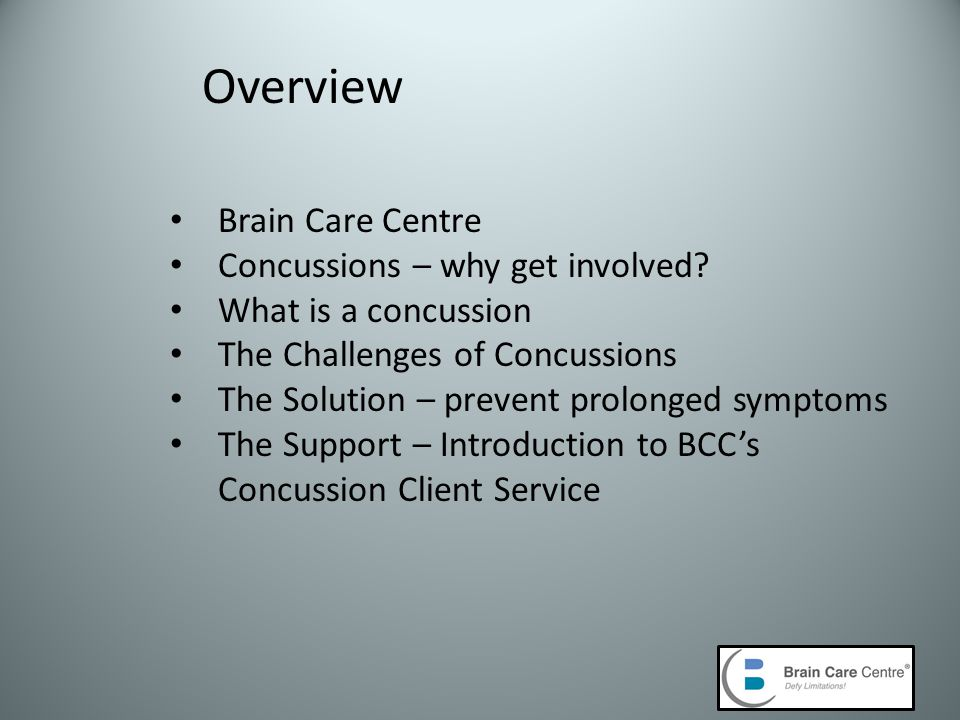 Brain Care Centre Concussions – why get involved.