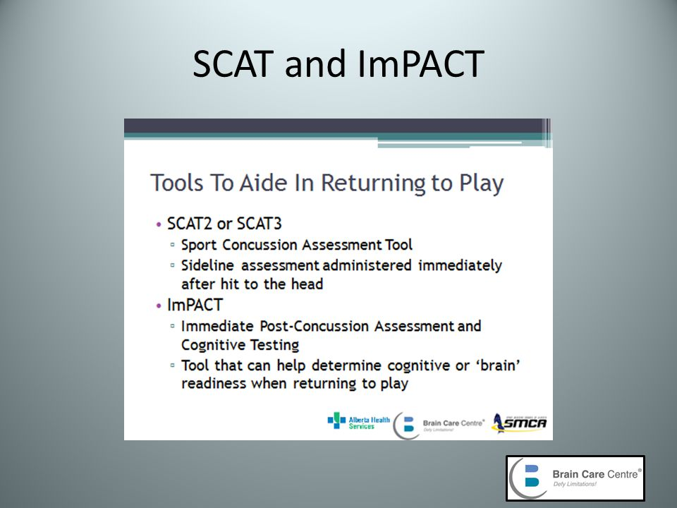 SCAT and ImPACT