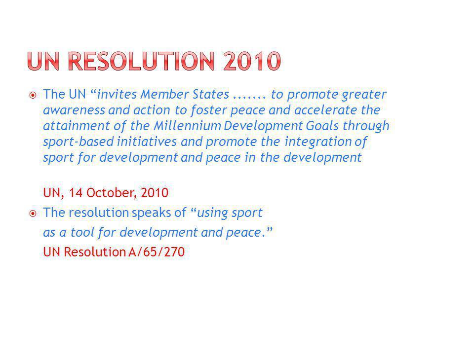 The UN invites Member States.......