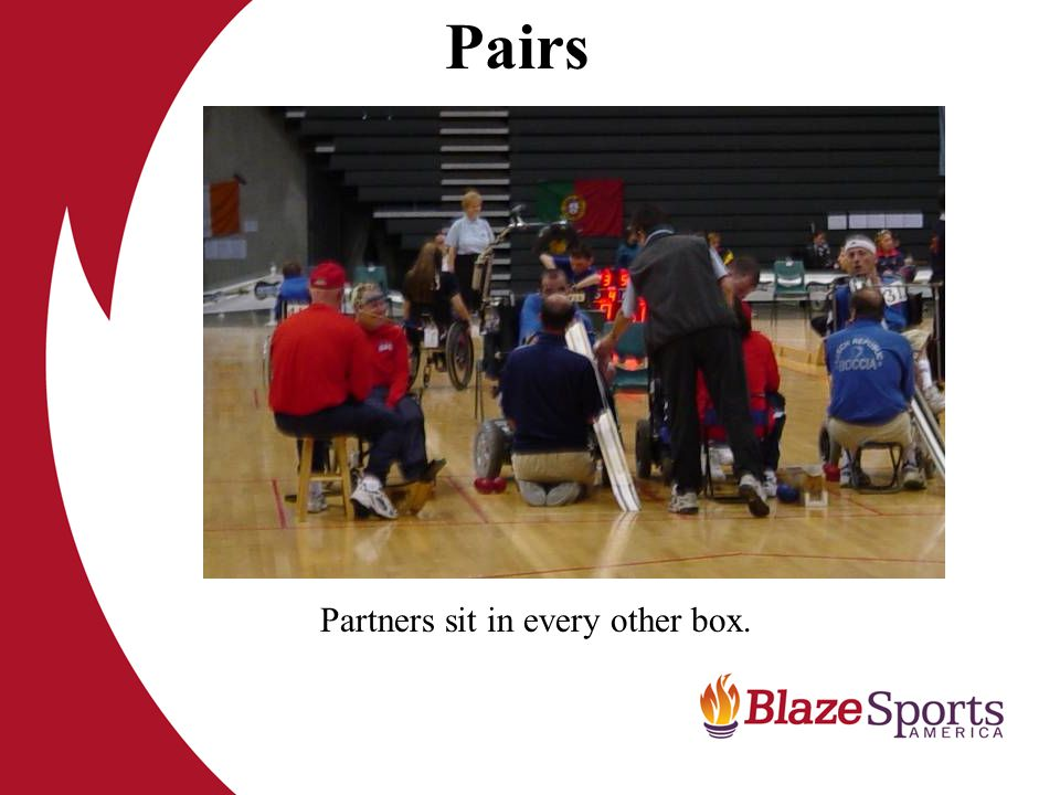 Pairs Partners sit in every other box.