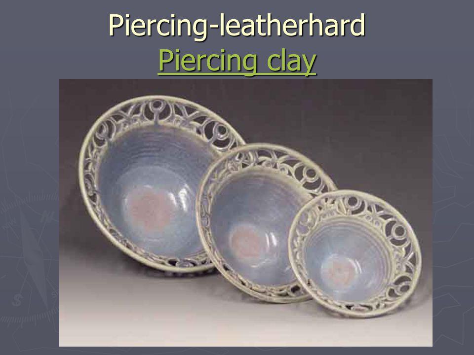 Burnishing-leatherhard Use X-acto knife, burnishing burnishing