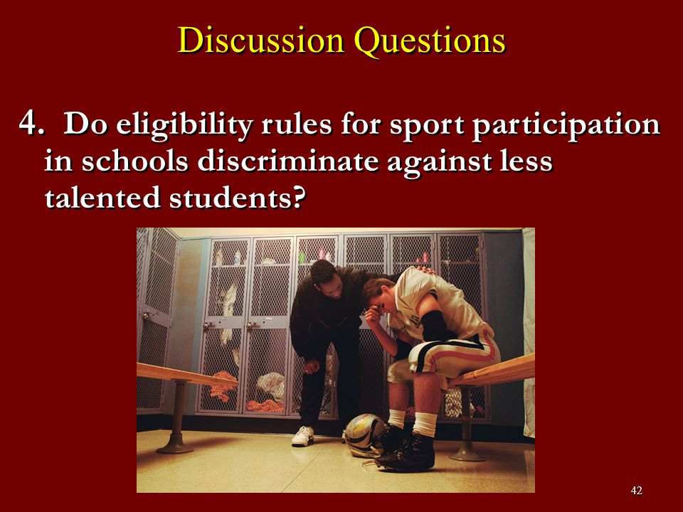 43 Discussion Questions 5.How early should athletes specialize.