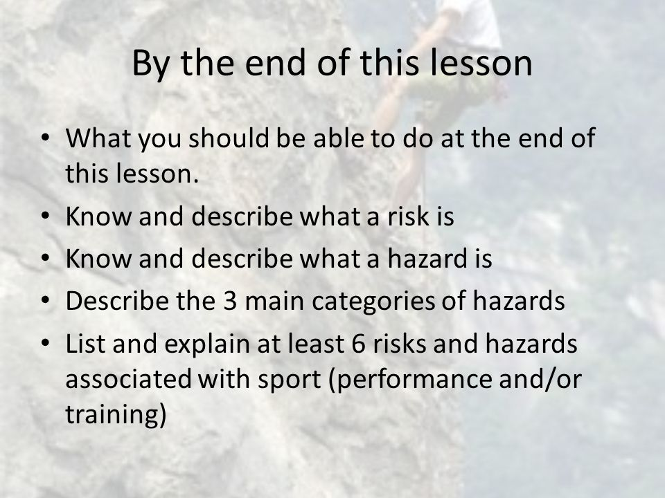 By the end of this lesson What you should be able to do at the end of this lesson.