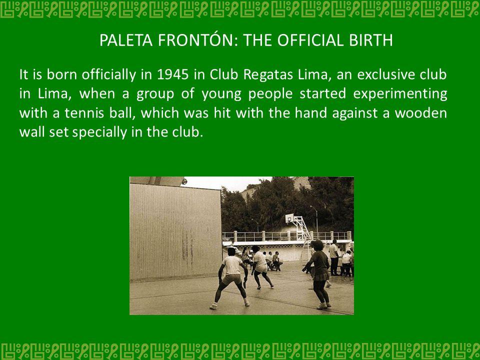 PALETA FRONTÓN: SUPPLIES Later, the sport was developed and paddles, back then made using the wood from whiskey boxes, were included in the game.