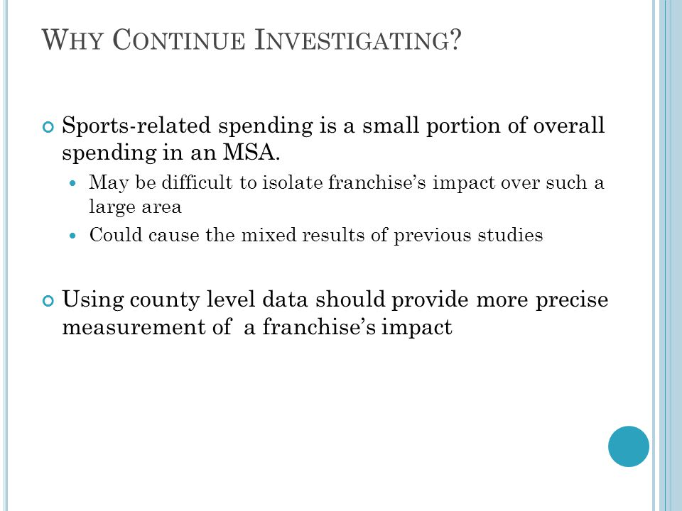 C ONCLUSION Claims that stadiums will induce job creation and revenue expansion are unsubstantiated.