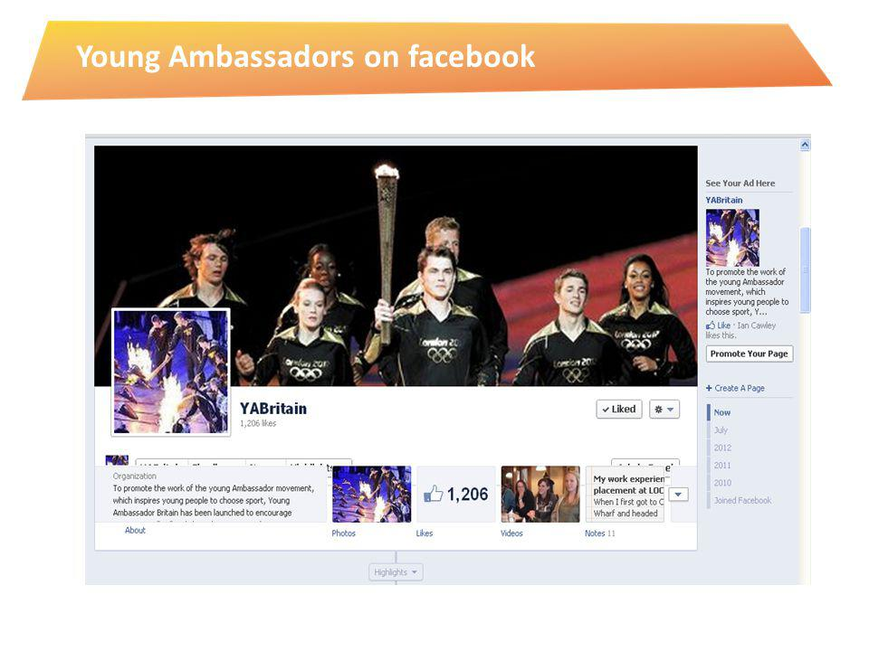 Young Ambassadors on facebook