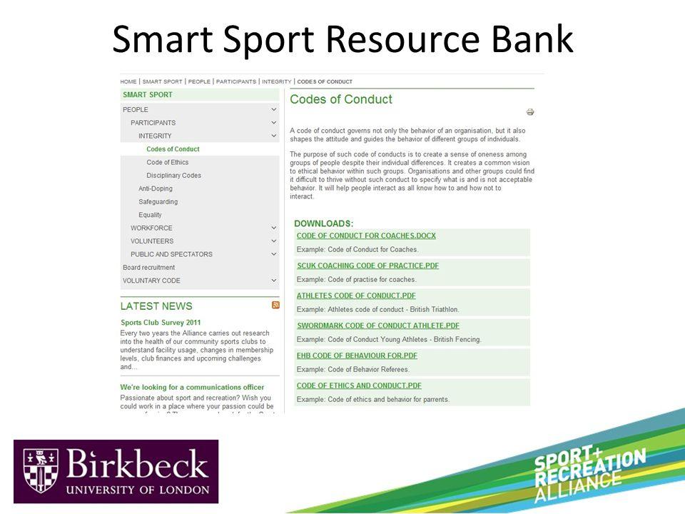 Smart Sport Resource Bank