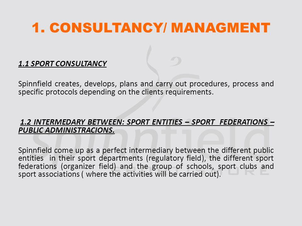 1.3 MANAGMENT OF SPORT EQUIPMENT.