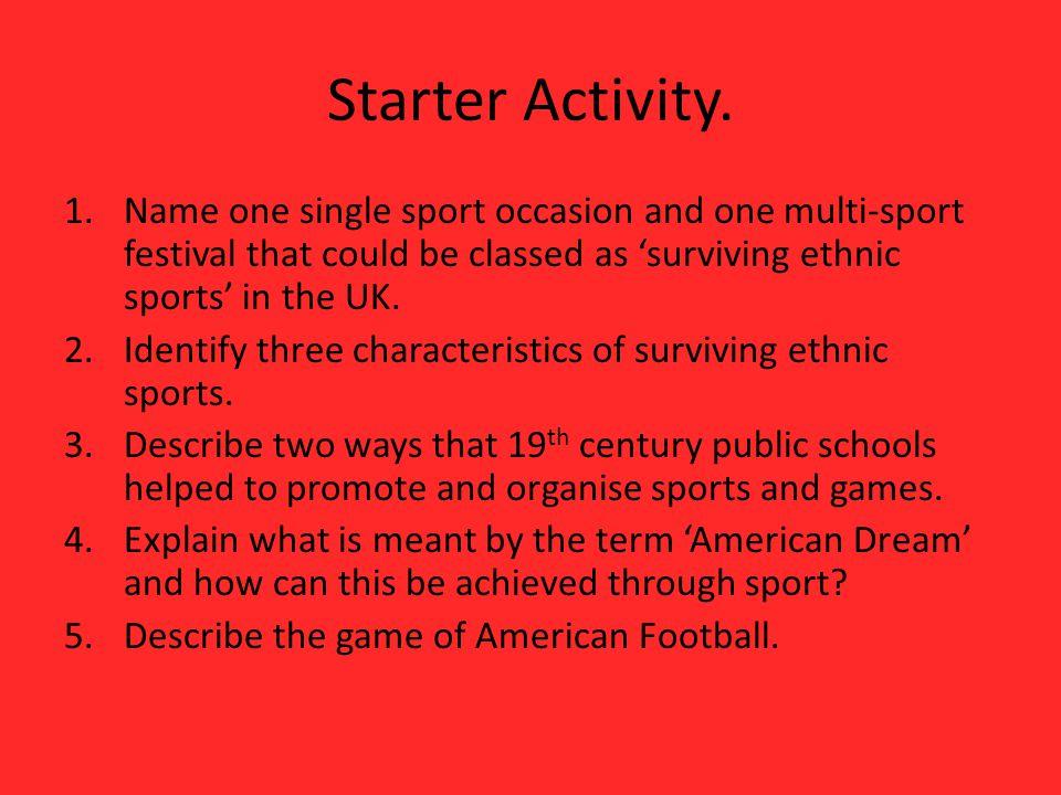 Starter Activity.