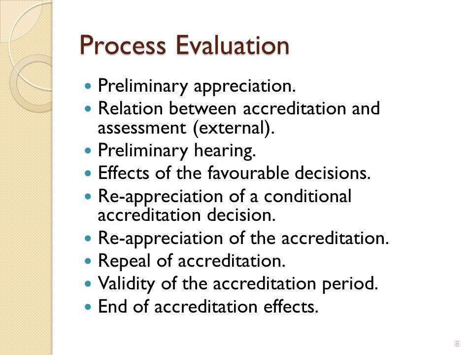 Process Evaluation Preliminary appreciation.