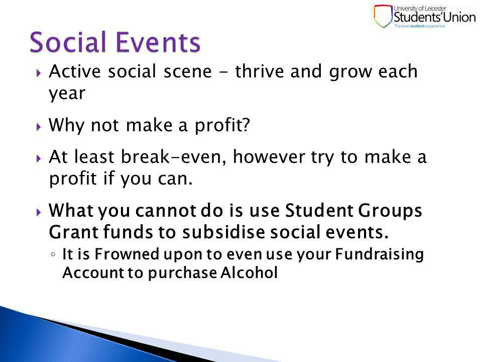 Active social scene - thrive and grow each year Why not make a profit.