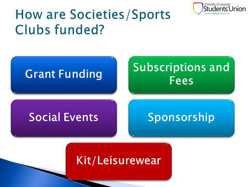 Grant Funding Subscriptions and Fees Social Events Sponsorship Kit/Leisurewear