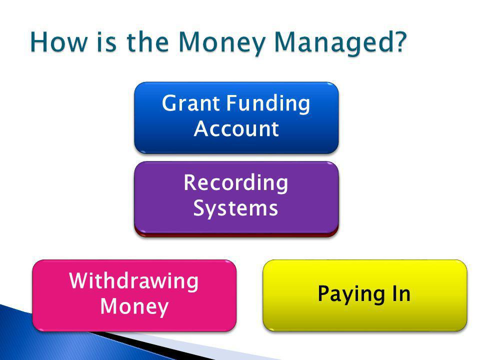 Paying In Withdrawing Money Fundraising Account Grant Funding Account Recording Systems