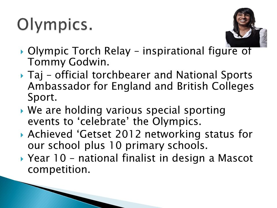 Olympic Torch Relay – inspirational figure of Tommy Godwin.