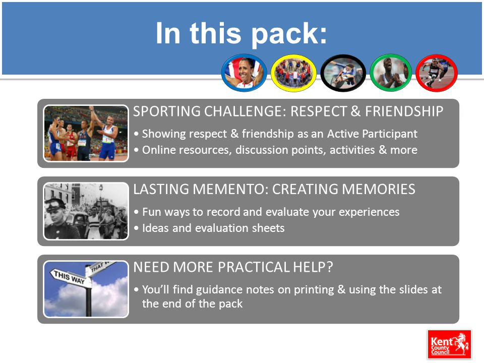 In this pack: SPORTING CHALLENGE: RESPECT & FRIENDSHIP Showing respect & friendship as an Active Participant Online resources, discussion points, activities & more LASTING MEMENTO: CREATING MEMORIES Fun ways to record and evaluate your experiences Ideas and evaluation sheets NEED MORE PRACTICAL HELP.