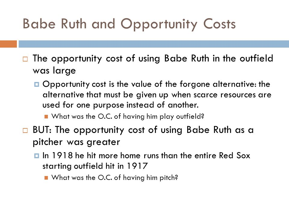 Babe Ruth And Absolute Advantage Absolute advantage occurs when a person (or nation) is better at doing something than another person (or nation) The ability to produce more units of a good or service than some other producer, using the same quantity of resources.