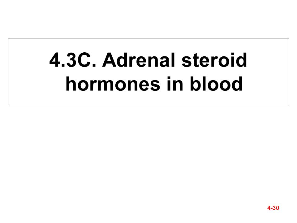 4.3C. Adrenal steroid hormones in blood 4-30